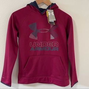 Under Armour Water Resistant Red Coldgear Hoodie-M